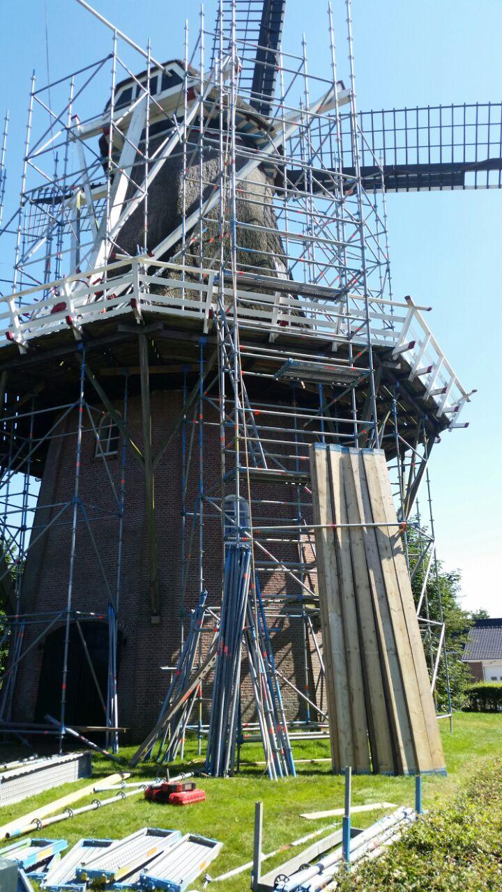 Renovatie steiger molen Suameer