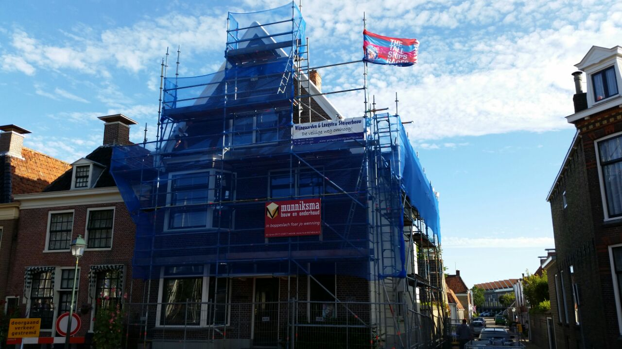 Renovatiesteiger Harlingen