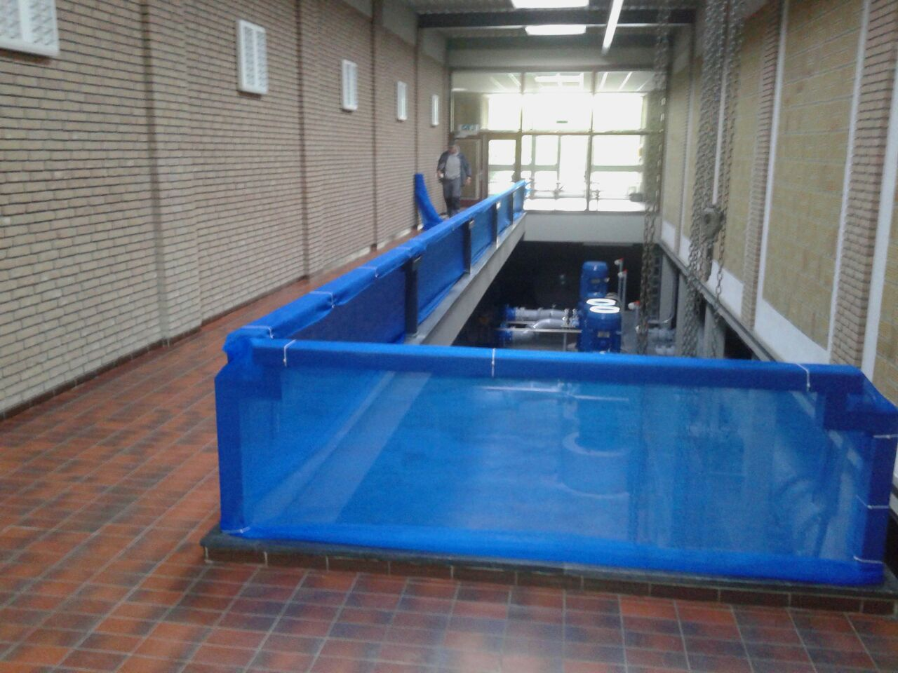 Steigernetten afscherming opendag Waterzuivering Oldeholtpade